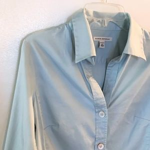 Banana Republic Button Shirt - Aqua Blue Stretch L